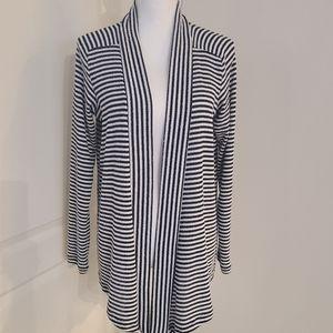 Splendid Navy & White Striped Cardigan